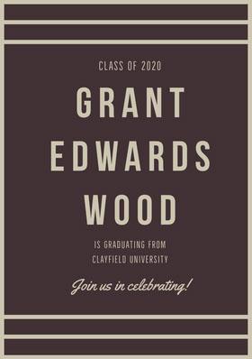 GRANT<BR>EDWARDS<BR>WOOD Graduation Invitation