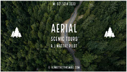 Green and White Aerial Scenic Tours Card jeff-test-5