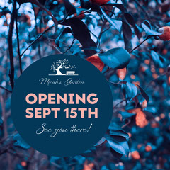Opening Sept 15th Nature