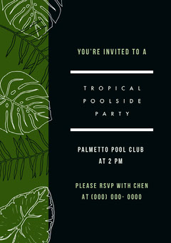 TROPICAL POOLSIDE PARTY Club Party