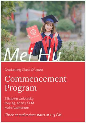 Mei Hu Graduation Invitation