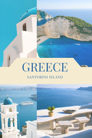 Blue and Beautiful Greece Views Pinterest Scrapbook Maker