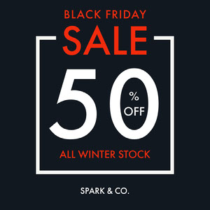 Black, Red and White, Black Friday Sale Ad, Instagram Post  Black Friday