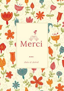 colorful floral patterned wedding thank you cards  Carte de remerciement de mariage