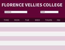 Purple and Pink Weekly College Schedule 일정