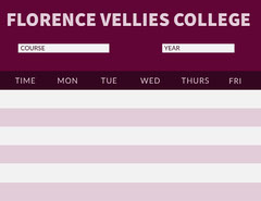 FLORENCE VELLIES  COLLEGE Educational Course