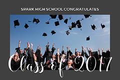 Grey and White Graduation Congratulations Facebook Card Graduation Congratulation