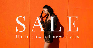 Orange Fashion Store Sale Facebook Post Ad Facebook Post Maker