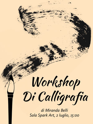 calligraphy workshop event poster Poster artistici