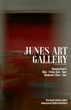 Dark Red Art Gallery Poster Red