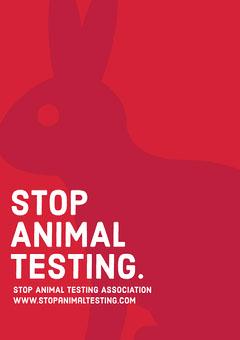 minimal stop animal testing A3 poster Animal