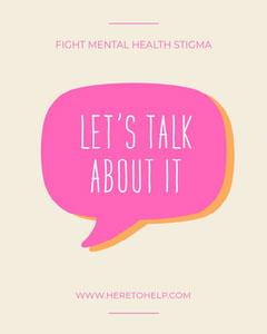 Pink & Cream Mental Health Instagram Portrait Health Poster
