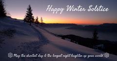 Blue Winter Solstice Sunrise Facebook Post Winter