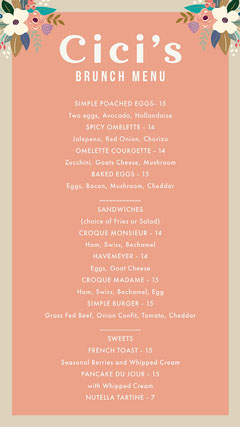 Pink Floral Brunch Menu Instagram Story Brunch
