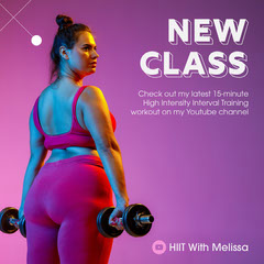 Pink and Purple Ambient Youtube Workout Class Announcement Wellness