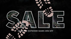 Black and Gree, Dark Toned Sale Ad Facebook Banner Holiday Sale