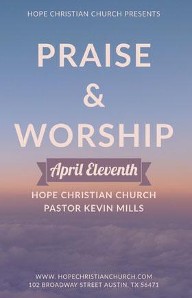 PRAISE <BR>& <BR>WORSHIP  Flyer
