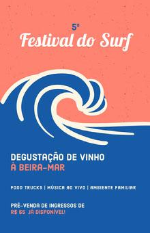 wine tasting event poster  Pôster