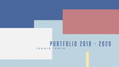Symbolic, Geometric, Colorful, Portfolio Cover Career Poster
