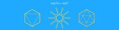 Blue and Yellow Geometric Mathematics LinkedIn Profile Cover Art