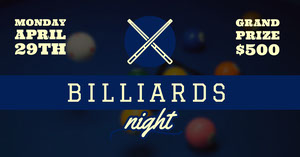 billiards Pool Party Invitation