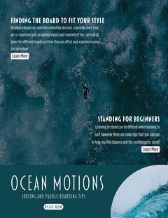 Ocean Motions Newsletter Surfing