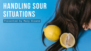 Blue and Yellow Handling Sour Situations Presentation Cover Presentation