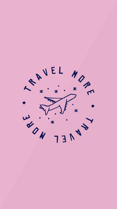 Pink Travel More IG Story Planes