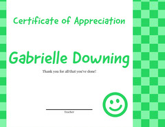 checkerboard certificate of appreciation  Pattern Design