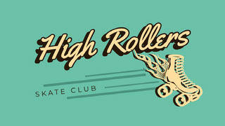 Yellow and Green High Rollers Facebook Cover Couverture Facebook