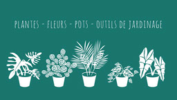 Green Teal Plants Flowers Gardening Facebook Cover