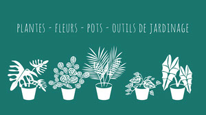 Green Teal Plants Flowers Gardening Facebook Cover  Couverture Facebook