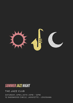 Summer Jazz Night Flyer Night Club Flyer