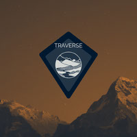 Brown and Navy Blue Traverse Badge Badge