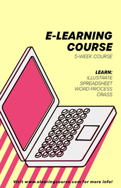 E-learning course poster  Educational Course