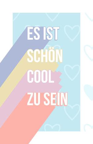 SCHÖN Poster mit Spruch