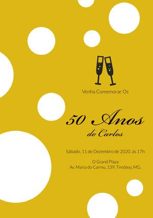 50 Anos Convite de aniversário