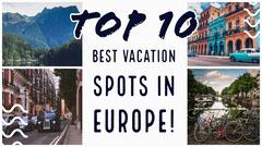 Europe Travel Destination Youtube Thumbnail Music Tour