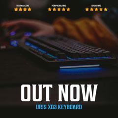 Dark Keyboard Release Instagram Square Ad  Launch