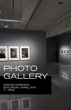 photo gallery poster Grand Opening Flyer