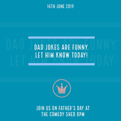 Blue and White Father's Day Card Comedy