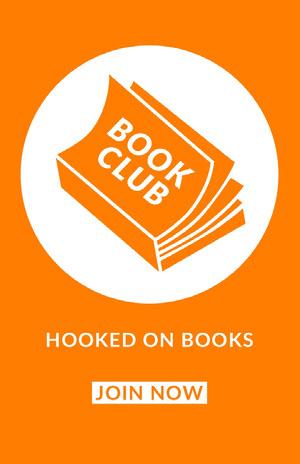 Yellow and White Book Club Poster Volantino club
