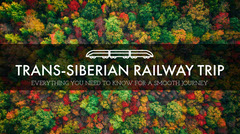 Trans Siberian Railway Trip Blog Post Graphic with Forest Forest