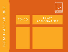 Orange and Yellow Empty Schedule Class Schedule