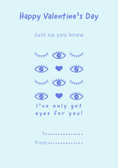 Eyes for you valentines note Valentine's Day