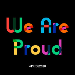 Colourful Typography Pride Instagram Square