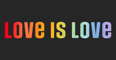 Black and Multi-Colored Pride Month - Facebook Post Love