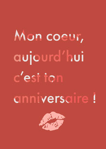 Red Sweetheart, today is your birthday - Card Carte d'anniversaire