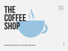 Black and Blue, Light Toned, Coffee Shop Ad, Facebook Banner Coffee