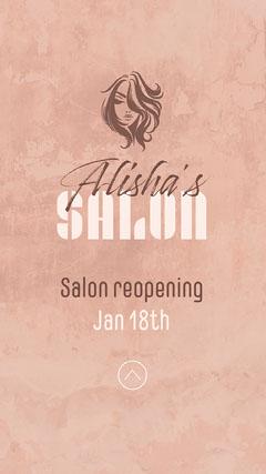 Blush Pink Alisha's Salon Reopening Instagram Story Beauty Salon